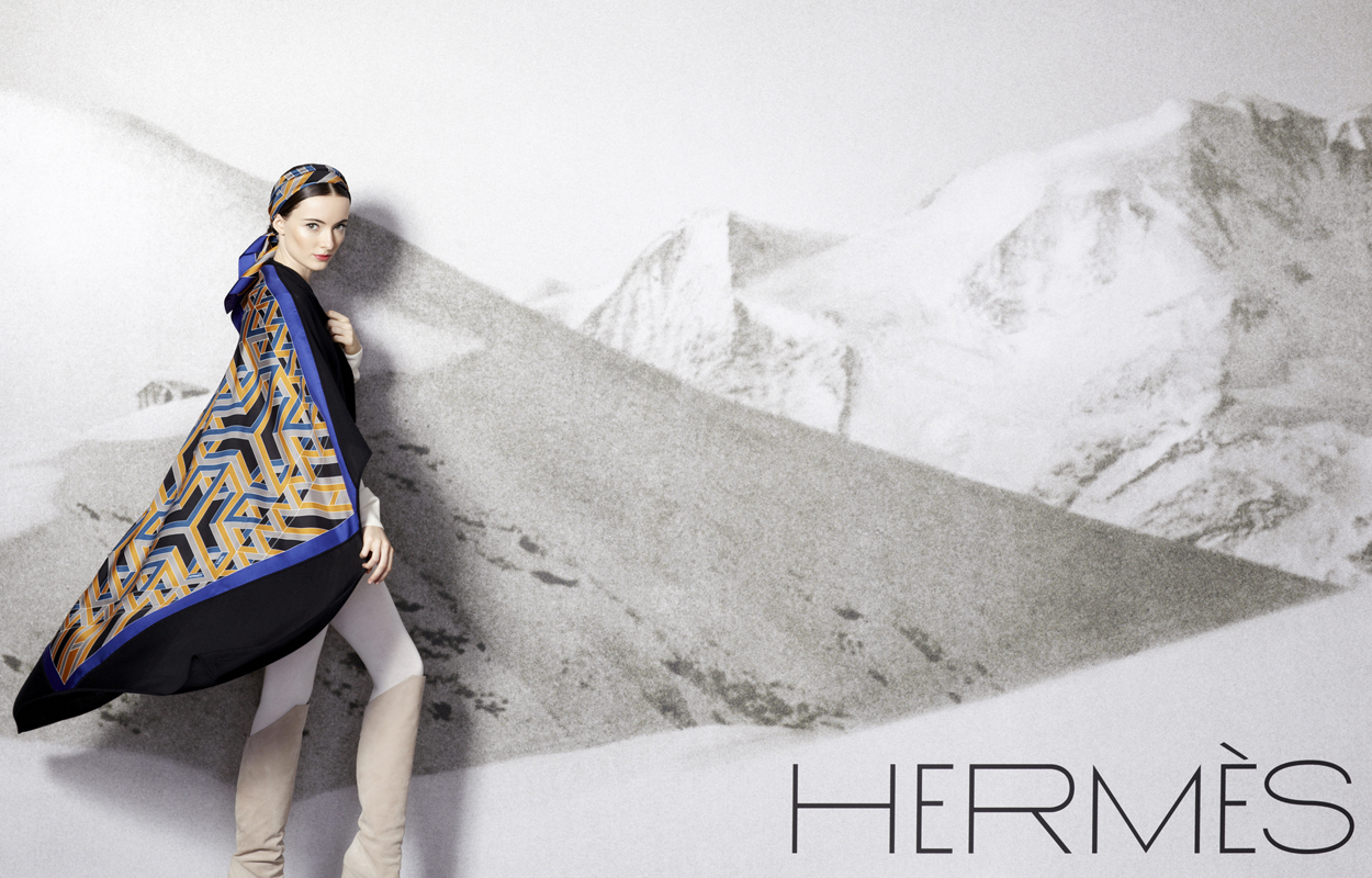 hermes silk lookbook fw13 louise enhorning