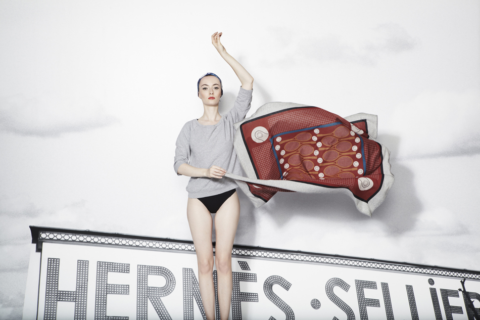 hermes silk lookbook ss13 louise enhorning